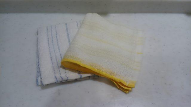 ガラスのコップの臭いの原因の布巾