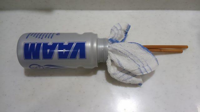 スクイズボトルの洗い方の中の拭き方