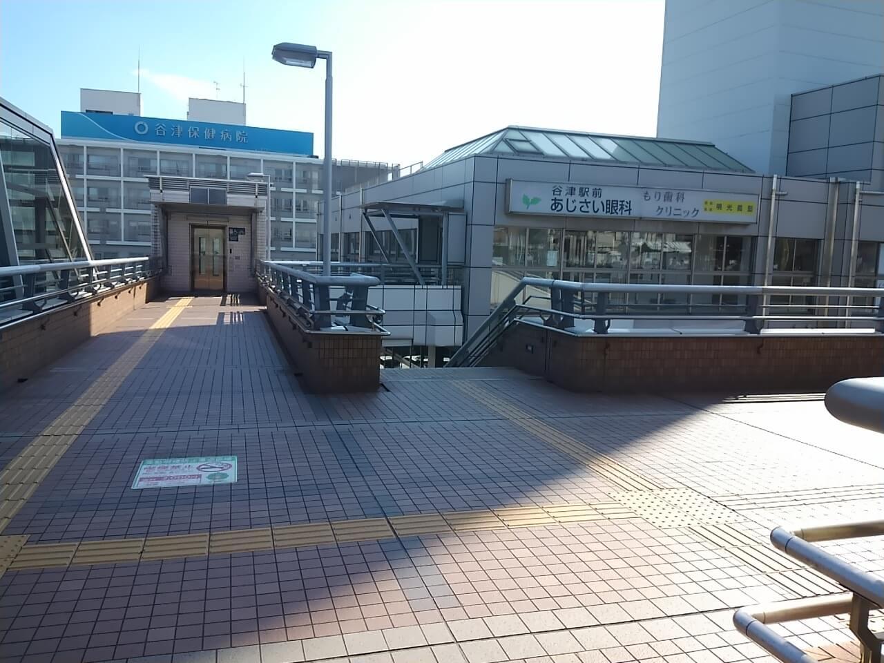 谷津バラ園の最寄り駅からの行き方の谷津駅南口