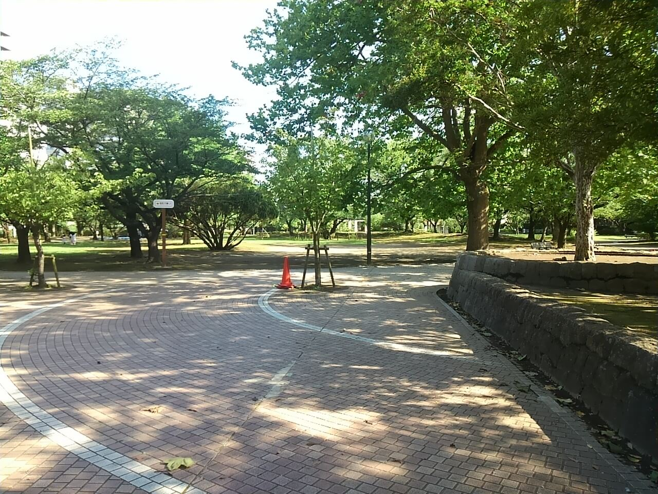 谷津バラ園の最寄り駅からの行き方の途中の公園