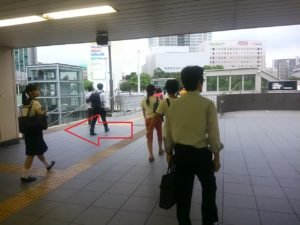 JR津田沼から京成津田沼への徒歩