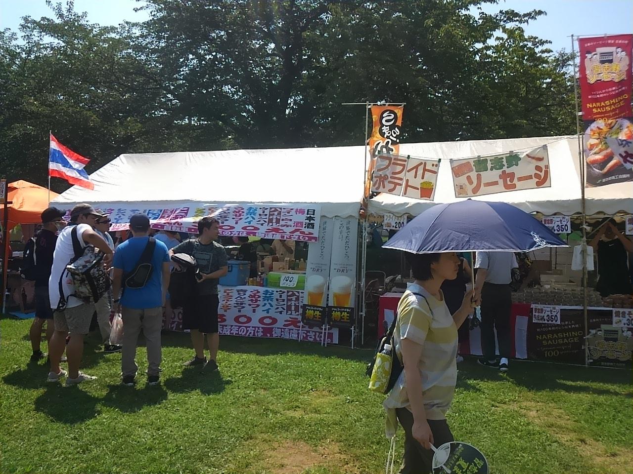 習志野駐屯地夏祭り屋台