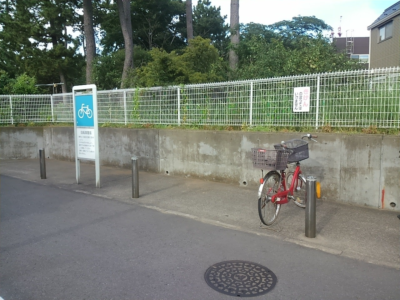谷津コミュニティーセンター駐輪場