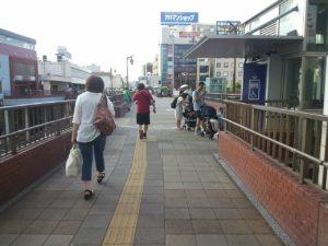 新津田沼から津田沼駅への乗り換え
