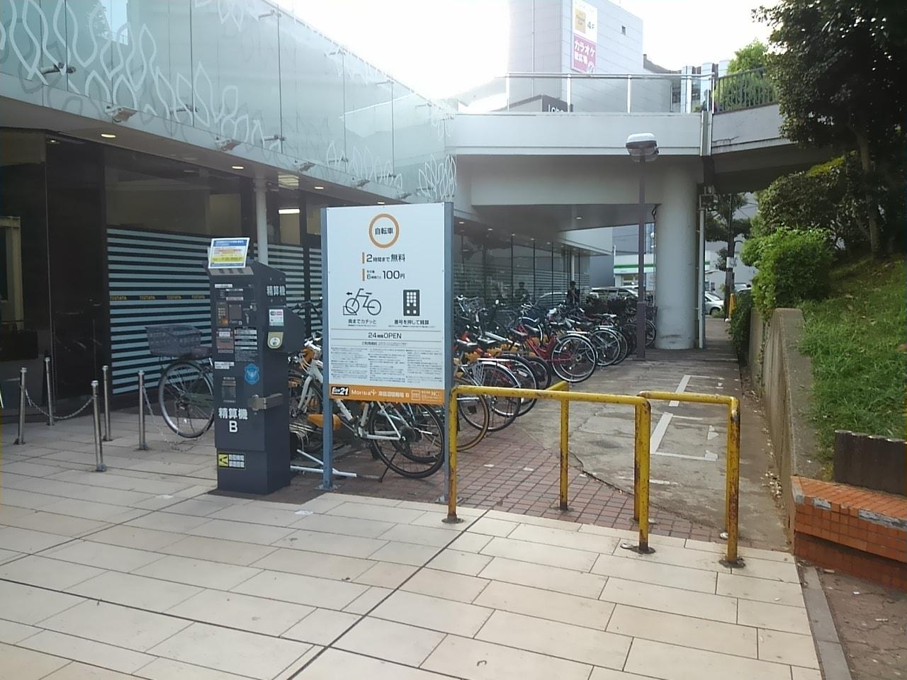 津田沼公園の駐輪場