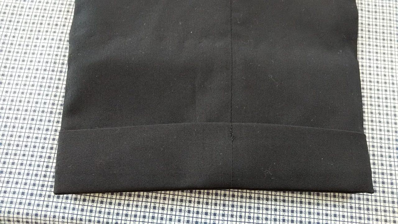 学生服の裾上げ方法手縫い