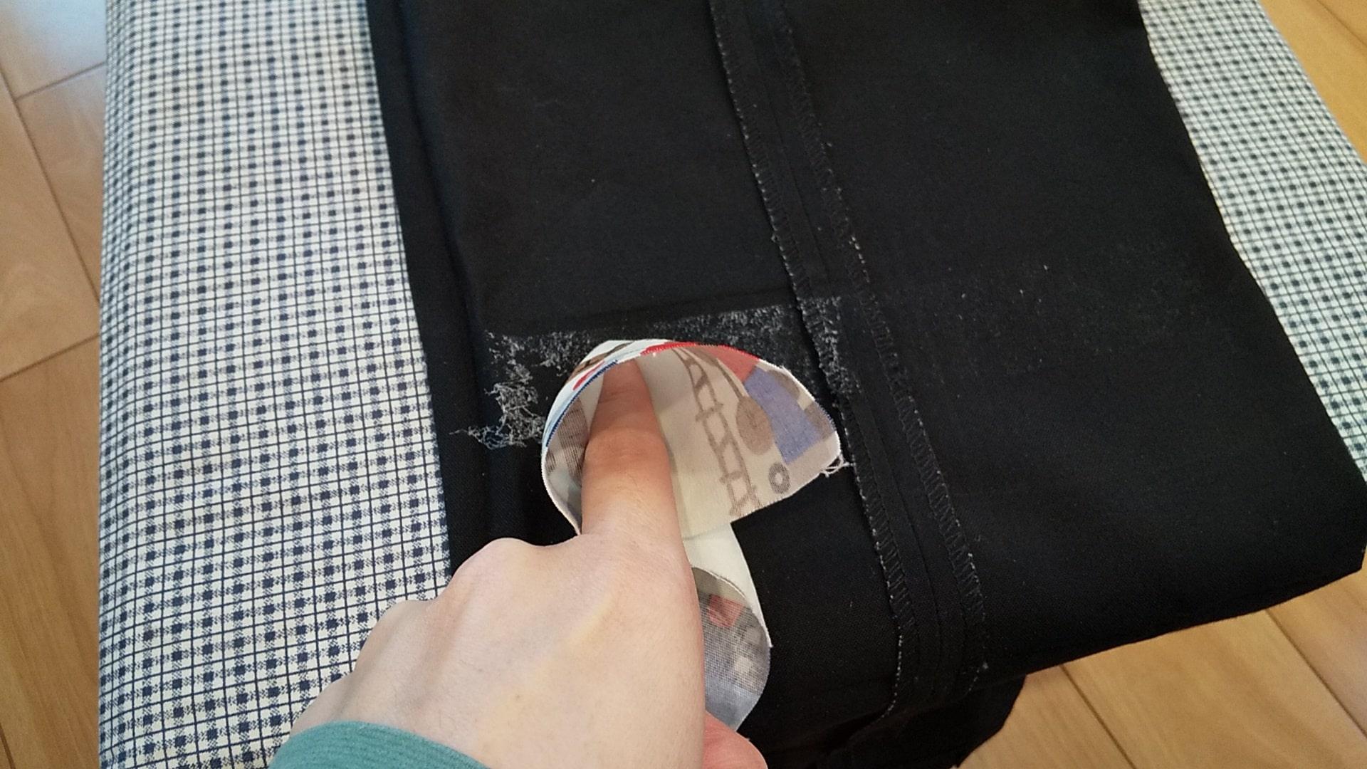 裾上げテープののりの剥がし方