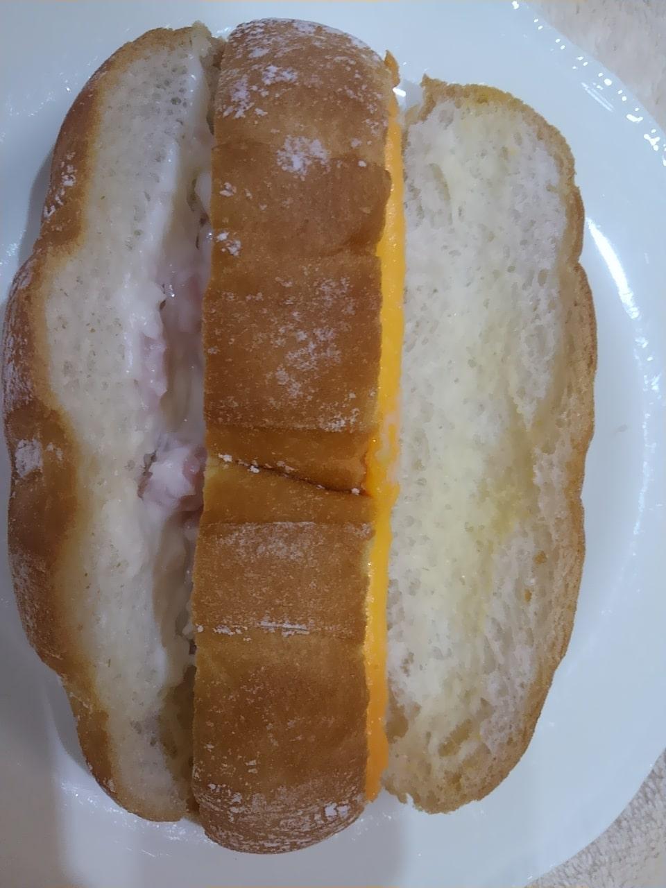 ローソンのカスクート(ハムマヨネーズ&チーズ)の感想・口コミ・カロリー・値段