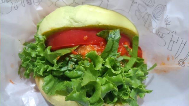 モスバーガーのグリーンバーガーの感想・口コミ・カロリー・値段