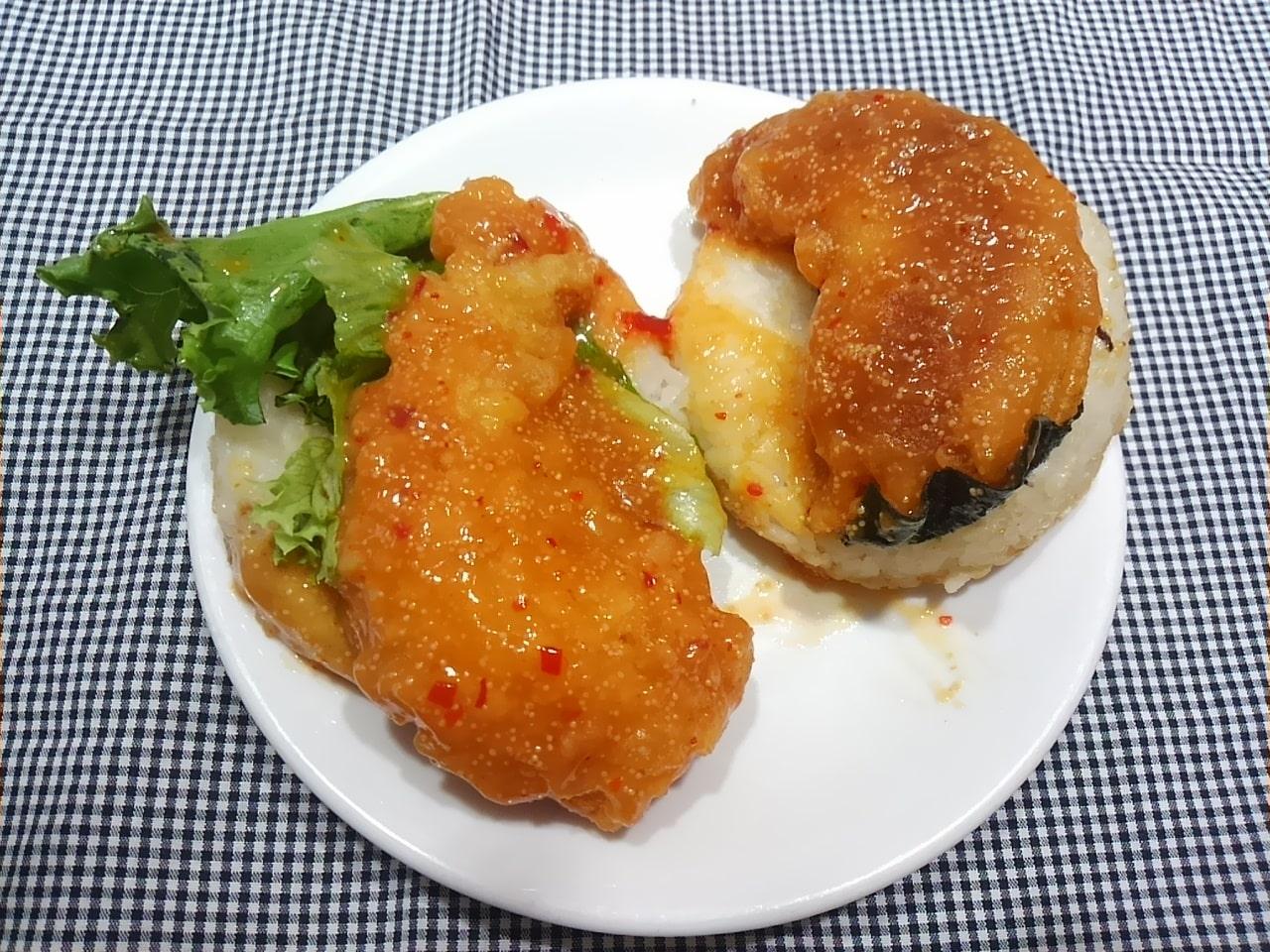 モスバーガーのモスライスバーガー海老天めんたい味の感想・口コミ・カロリー・値段